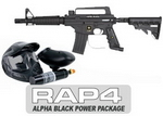 US Army Alpha Black Tactical (with MODS) Paintball Marker and El