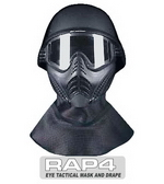 Eye Tactical Helmet with Mask and Drape Black