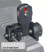 Rear Adjustable Flip Up Sight for US Army Project Salvo