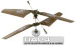 RAP4 Raptor R/C Helicopter Complete Blade Assembly
