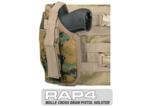 MOLLE SWAT Tactical Cross Draw Holster (Left - Small) Digital
