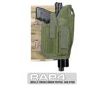 MOLLE Ranger Tactical Cross Draw Holster (Right - Big) Olive Dra