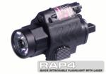BT Quick Detachable Tactical Flashlight with Laser Combo