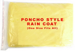 Poncho Style Rain Coat (One Size Fits All)