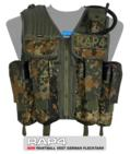 Strikeforce Paintball Vest (German Flecktarn) - Regular Size