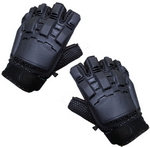 Sup Grip Armor Paintball Gloves (Half Finger - Black) 2X Large
