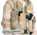 T68 Paintball Pistol Commando Vest Package with Marker