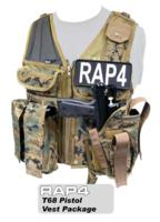T68 Paintball Pistol Vest Package with Marker