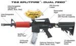T68 Split Fire Dual Feed Less Lethal Launcher