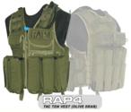 Tactical Ten Paintball Vest (Olive Drab) - Regular Size