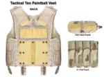 Vertical 4x Molle Paintball Pod Pouch (Back) (Italian Camo)