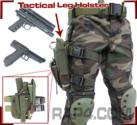 Tactical Leg Holster (Right Hand - Large) (Black)