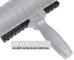 US Army Alpha Black 20mm Rail (with Mounting Screws)