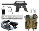 US Army Alpha Black Paintball Marker Elite Power Package