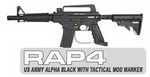 US Army Alpha Black with Tactical MODs Paintball Gun