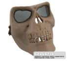 RAP4 Airsoft Tactical Skull Mask with Perforated Steel Lens (Tan