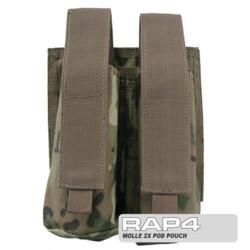 MOLLE 2X Pod Pouch for Tactical Vest (Eight Color Desert)