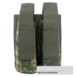 MOLLE 2X Pod Pouch for Tactical Vest (German Flecktarn)