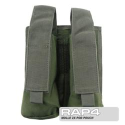 MOLLE 2X Pod Pouch for Tactical Vest (Olive Drab)