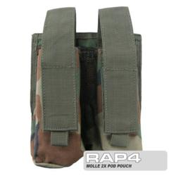 MOLLE 2X Pod Pouch for Tactical Vest (Woodland)