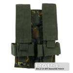MOLLE 2X MP5 Magazine Pouch for Tactical Vest (German Flecktarn)