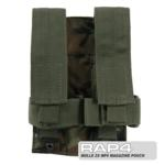 MOLLE 2X MP5 Magazine Pouch for Tactical Vest (Woodland Camo)