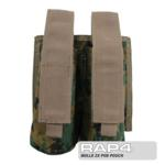 MOLLE 2X Pod Pouch for Tactical Vest (Digital Camo)