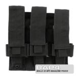 MOLLE 3X MP5 Magazine Pouch for Tactical Vest (Black Color)