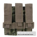 MOLLE 3X MP5 Magazine Pouch for Tactical Vest (Eight Color Deser
