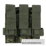 MOLLE 3X MP5 Magazine Pouch for Tactical Vest (German Flecktarn)
