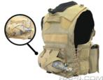 Paintball Vest Air / CO2 Tank Pouch (Back) (Digital Camo)